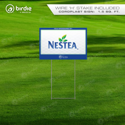Economy Golf Tee Signs (12x18)