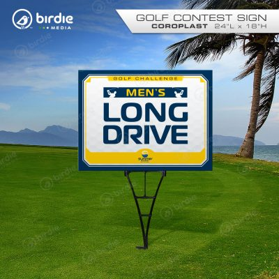 Men's Longest Drive Golf Sign