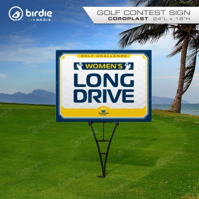 Women's Longest Drive Golf Sign