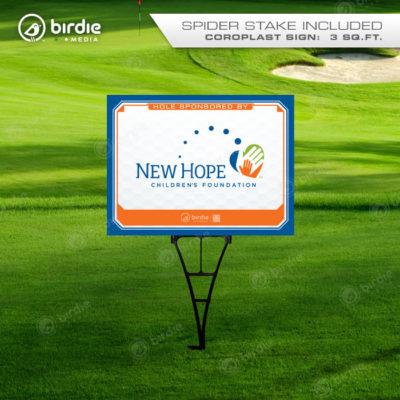 Standard Golf Tee Sign (18x24)