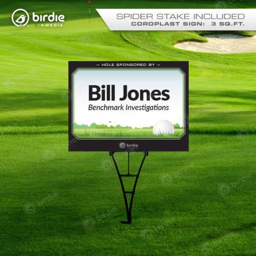 Sponsor Name Golf Tee Sign (18x24)