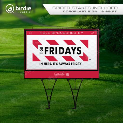 Jumbo Golf Tee Signs (24x36)