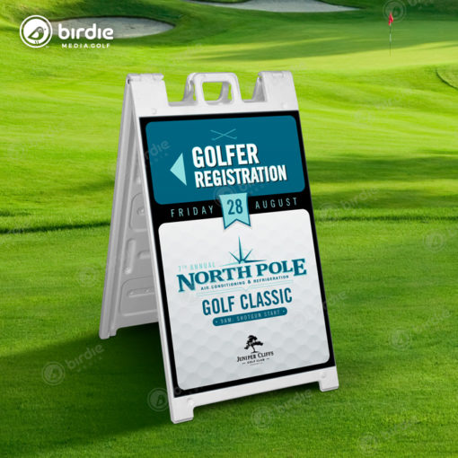 Deluxe A-Frame 2-Sided Golf Signs