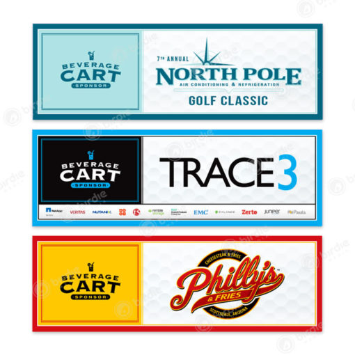 Beverage Cart Sponsor Signs