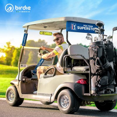 Birdie Media Neoprene Golf Cart Signage