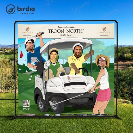 Golf Foursome Face Cutout Banner