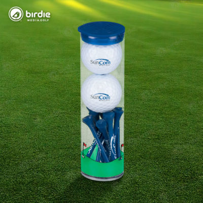 Birdie Golf Balls & Tees Tube