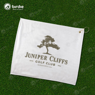 Poly Blend Golf Towel (White)