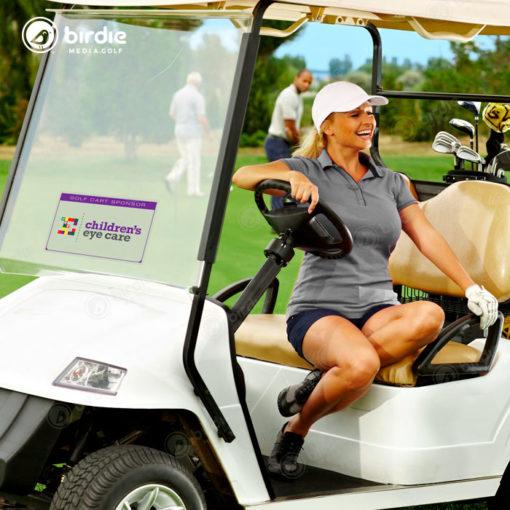 "Golf Cart Windshield Cling (11""x17"")"