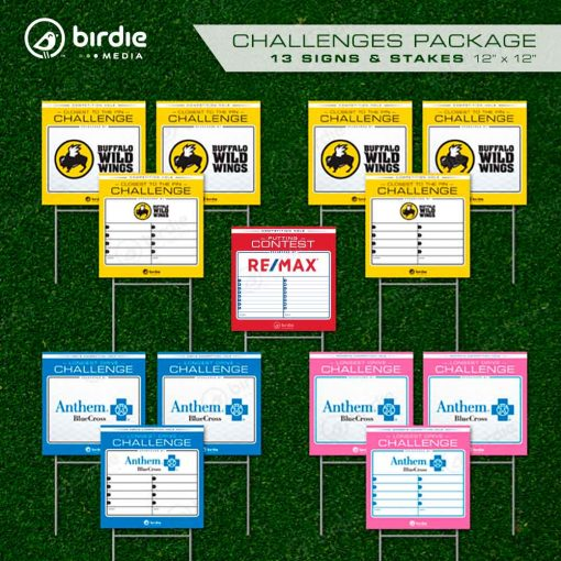 Golf Challenges Sign Package