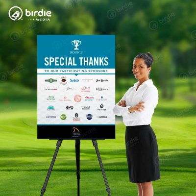 Golf Sponsor Easel Sign