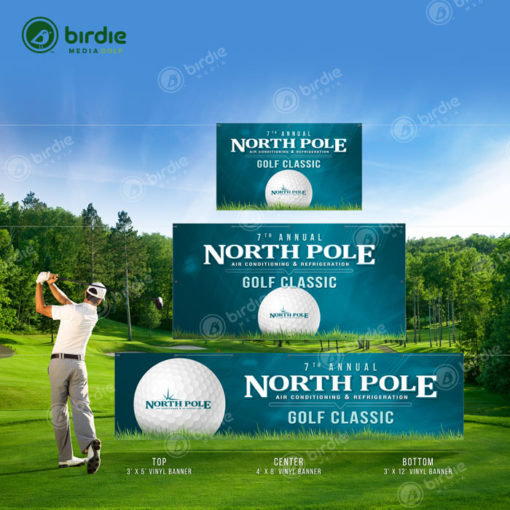 Various Birdie Media Golf Vinyl Banners