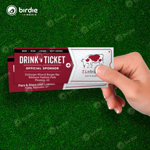 Golf Event Drink Tickets